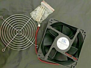 "Cooling Fan GDSTIME 12v120x38mm 4 5/8""x4 5/8""x1 1/2""  Dc Brushless2900 RPM"