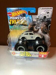 """Hot Wheels Monster Trucks HERBIE """"The Love Bug"""" #53 VW BUG -  NEW for 2021"""