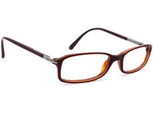 Prada Eyeglasses VPR 17G 70I-1O1 Brown Rectangular Frame 52[]16 135