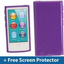 Viola lucido TPU Gel Custodia per Nuovo Apple iPod Nano 7a Generazione 7G Cover Guscio