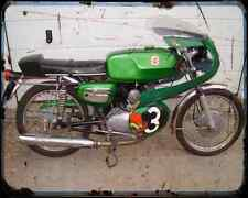 Benelli 125 Ss 02 A4 Metal Sign Motorbike Vintage Aged