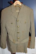 Original WW2 Royal Canadian Army Officers Khaki Uniform Jacket w/Waist Belt