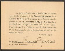 ORLEANS ARBRE DE NOEL PRISONNIERS GUERRE 39/45 1945