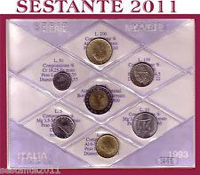 ITALY,  ITALIA , Mini Serie Divisionale Sigillata in FDC 1993  + Cartoncino
