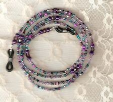 """Eyeglass Chain~Purple Multi~28""""~Crystals~Lovely Gift~Violet~Buy 3 SHIP FREE"""