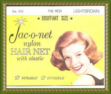 Jac-O-Net Bouffant Invisible fine Hair retro very thin very Net light brown