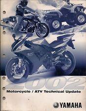 Yamaha Motorcycle Atv Technical Update Manual 2002