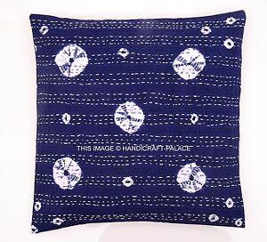 "Indian Abstract Kantha Cotton Pillow Case Tie Dye Cushion Cover 16"" Boho Throw"