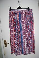 George 3/4 Leg Palazzo Pants with Matching Tie Belt Multicoloured Size 20 BNWT
