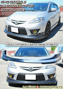 K-Style Front Lip (ABS) Fits 08-10 Mazda 5