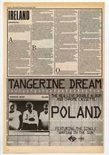 Tangerine Dream Poland Advert NME Cutting 1984
