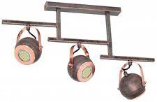 Rústico Juego de 3 focos techo lámpara Antiguo Estilo Retro Lámparas Spot