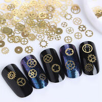 Ultra-thin 3D Charm Nail Art Decors Bronze Time Wheel Punk Manicure Jewelry Hot