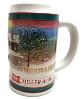 Miller High Life Beer Mug Stein Christmas Holiday Advertising Mug Holds 18 oz