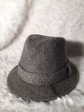 Vintage Fedora Grey Wool Gentleman's Hat Size 7