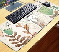 Large L Non-slip Gaming Mousepad Mouse Pad Rubber Edge-locked Desk Keyboard Mat