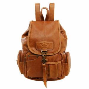 Women Vintage Leather Backpack Bag Shoulder School Travel Bag Satchel Rucksack