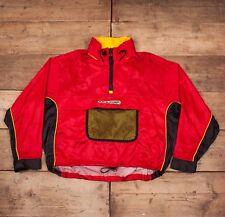Da Uomo Vintage Tommy Hilfiger 90s rosso mezza Zip Pullover Giacca Cappotto  XL 48