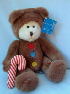 Vintage Russ GINGERBREAD BEAR Christmas teddy (Paul Mitchell Salon Success excl)