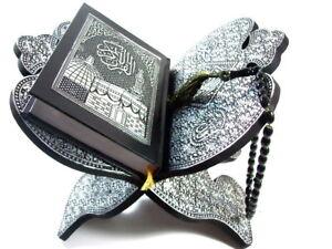 Koran Ständer + Quran Arabisch Halter+Gebetskette (Tesbih) *Allah Islam Muslim*