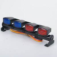 Mult-Function LED Light Bar RC 1/10 1/8 Car AX-505RB Red&Blue Police Lenses