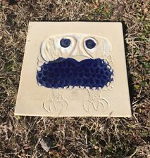 Vintage Bennington Pottery David Gil Owl Trivet Wall Tile 1536 Blue