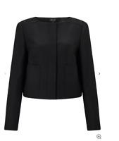 BRUCE BY BRUCE OLDFIELD Wool Boxy Jacket Black Blazer Size UK10 *STUNNING*