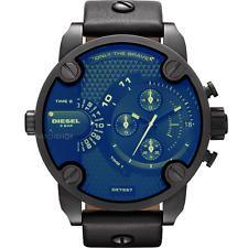 New Diesel DZ7257 Little Daddy Black Chronograph Men's Wrist Watch Original Box