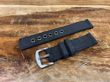 Premium Canvas Watch Strap - 18mm - Stainless Steel Buckle - Extra Thick - New!