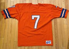 Vtg Champion John Elway Broncos Orange Nylon #7 Jersey Size Xl