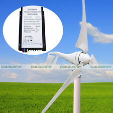 400W 12V Wind Turbine Generator + 20A Hybrid 12V/24V Controller Off/On Grid Boat