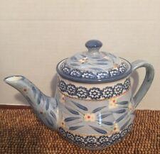 "TempTations Tara OLD WORLD BLUE Large Teapot 5.5 cups 6.5""t"