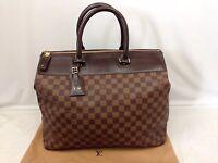 "Auth Louis Vuitton Damier Greenwich PM Travel Bag 6H230310"""