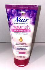 Nair Nourish Skin Renewal Hair Remover Cream for Face 3 oz Grapeseed oil