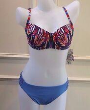 BECCA Bralette Aura Bikini Top Scrunch Butt Hipster Bottoms $120 NWT 10 12 Large