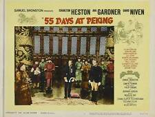 55 DAYS AT PEKING Movie POSTER 22x28 Half Sheet B Charlton Heston Ava Gardner