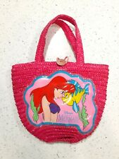 Vintage Disney 90s The Little Mermaid Ariel Flounder Purse Tote Bag