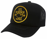 Law Enforcement BLK. Trucker Hat Adjustable - US Border Patrol