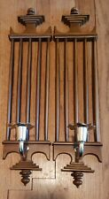 Burwood Products Vintage Pair of Wall Sconces Candle holders 1042