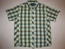 Prana Men's Short Sleeve Snap Up * Green * Large * FREE SHIPPING!!