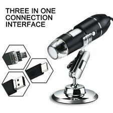 With Metal Bracket 1600X USB Digital Microscope 8LED Magnifying Glass L8B4