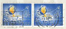 posted 11 dec 1972 Republic South Africa Stamp pair 2c pouring iron Industry