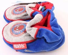 Marvel Amazing Spider-Man Toddler Boys Blue/Grey Slippers Size 2 NWT