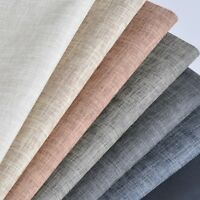 Faux Linen Leather Fabric PU Sofa Table Wall Decor Upholstery Craft Chair Modern
