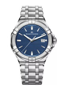 Maurice Lacroix Mens AIKON Blue Quartz 42mm Watch.