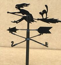 1:12 Scale Black Metal Witch On A Broom Stick Weather Vane Tumdee Dolls House