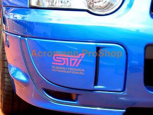 "2x 5"" 127mm fog lamp cover decal sticker for impreza GDB C D wrx MY05 GRB S4 sti"