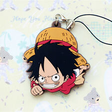 One Piece Pirate Straw Monkey D Luffy PVC Figure Cell Phone Chain Strap Charm