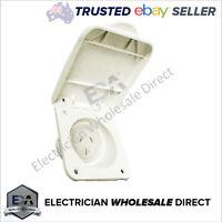 15A AMP 3 Pin Caravan Power Outlet 240V Electrical Socket for Motor Home