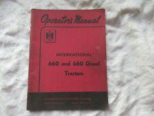 Farmall International 660 tractor operator's manual
